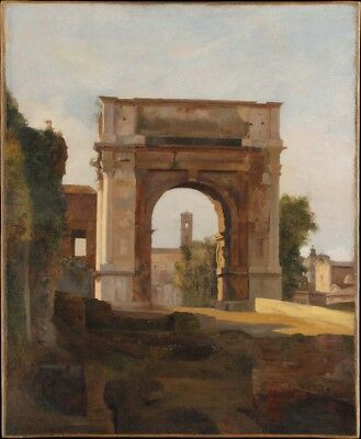 French Painter, early 19th century - Arch of Titus, Forum, Rome, 1835