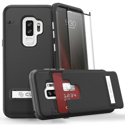 For SAMSUNG GALAXY S9 PLUS Phase Series by Click Case + Glass Film Screen -Black