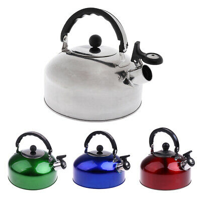 4L/5L Lightweight Stainless Steel Whistling Kettle Ideal for Caravan Camping