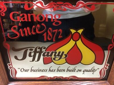 Ganong Chocolate Company Since 1872 Tiffany Co. Light Advertising Glass Framed