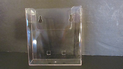 "Acrylic Clear 6.5"" x 6.5""  Wall Hanging Brochure Display Holder-1 Holder"