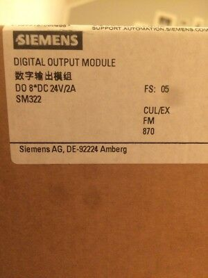 Siemens I/O SPS Digital Output Module 6ES7322-1BF01-0AA0 DO 8