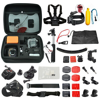 Action Camera Accessory Kit for GoPro Hero 6 5 4 3+ 3 2 1 - 45pc Deluxe Bundle