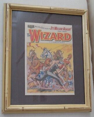 Framed Vintage Comic Cover - The Wizard No.1910 - Sept 22nd, 1962 - Wall decor