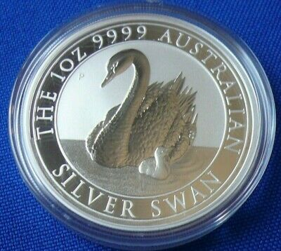 In Hand! 2018 Australian Swan 1 oz .999 Silver Round Coin in Capsule Perth Mint