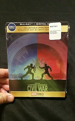 NEW Captain America Civil War Steelbook Blu-Ray Best SHIPS TODAY Avengers