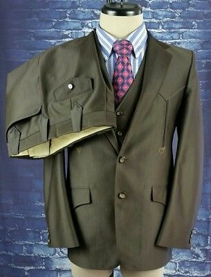 Swanky GRAND ENTRY Vintage Western 3 Piece Suit - 40 R - MINT CONDITION