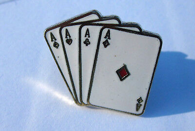 4 Aces Card Player Tie Tack Pin ~ New