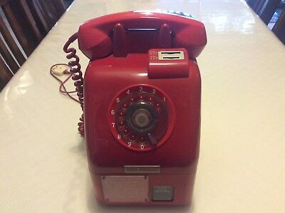 Vintage Pay Dial Up Red Phone