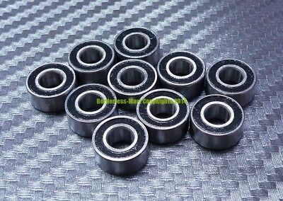 [25 Pcs] MR117-2RS (7x11x3 mm) Rubber Sealed Ball Bearings Bearing MR117RS BLACK