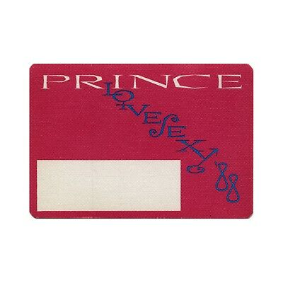 Prince 1988 LoveSexy Concert Tour Vintage Satin Backstage Pass pink