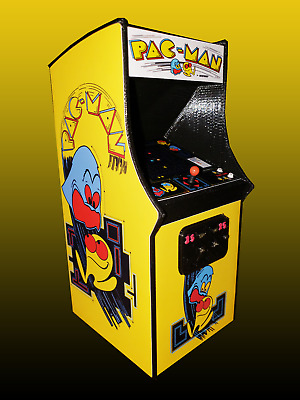 Mini Pac-Man Arcade Cabinet Collectible Display (Not a Machine)