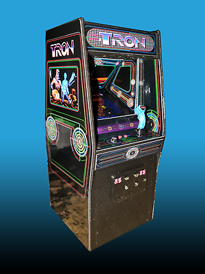 Mini Tron Arcade Cabinet Collectible Display
