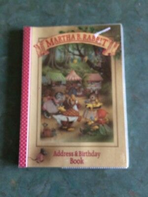 Martha B Rabbit Address and Birthday Book