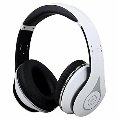 August Bluetooth 4.1 wireless headphone with folding microphone EP640 white