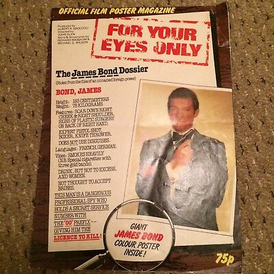 James Bond Official Poster Magazine - For Your Eyes Only - Vintage
