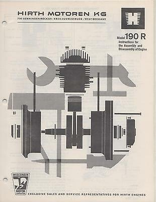 HIRTH SNOWMOBILE & VEHICLE ENGINES INSTRUCTION  MANUAL for 190R