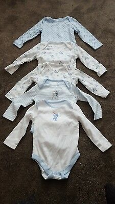 Baby vests set of 5 long sleeve 6-9 months
