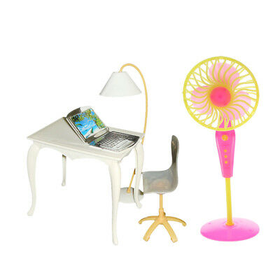 1/6 Office Desk Chair Electric Fan Furniture for Dollhouse Accessory