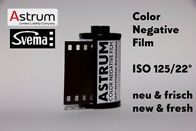 ASTRUM Svema Color Film • 35mm C41 ISO 125 NEW & FRESH FILM 135 Negativ • Аструм