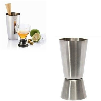 1PC 2-End Stainless Steel 25/50ml Jigger Single Double Shot Cocktail Peg Measure