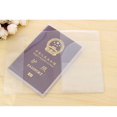 3PCS Passport Covers Transparent Protector Travel Clear Holder Organiser Case!