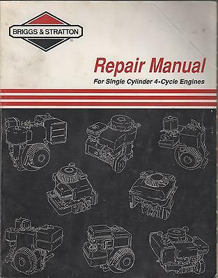 Printed 1994 BRIGGS & STRATTON SINGLE CYLINDER 4-CYCLE SERVICE MANUAL (101)