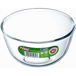 Pyrex Glass Bowl Mixing Dish 1L Primary Butterprint Microwave Fridge Stain Proof