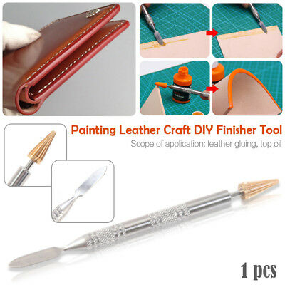 Double-head Edge Dye Roller Pen Applicator Painting Making Leather Craft Tool
