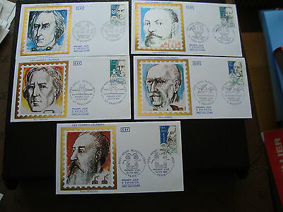 FRANCE - 5 envelopes 1st day 22/2/1986 (characters famous) (cy44) french