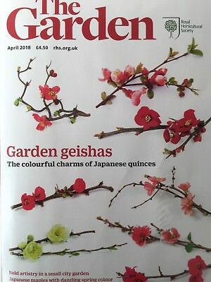 Rhs The Garden Magazine April 2018 Japanese Quinces Maples Edibles Weed Control