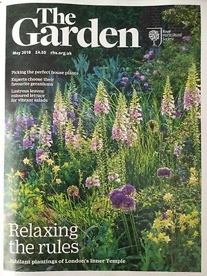 Rhs The Garden Magazine May 2018 Geraniums House Plants Summer Roses Petunias