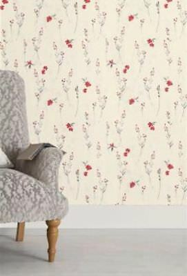 NEXT Eden Red Floral Paste The Wall Wallpaper Batch 1 NEW SEALED