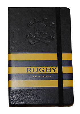 Polo Ralph Lauren Rugby Skull Crossbones Moleskin Notebook Journal Diary Black