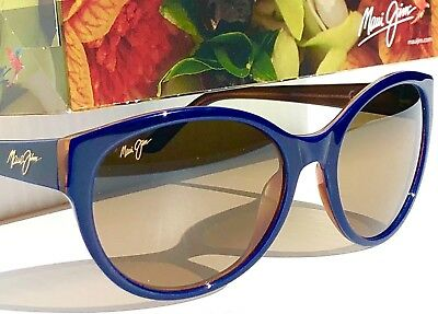 NEW* Maui Jim VENUS POOLS Blue POLARIZED Bronze Womens Sunglass HS100-03D