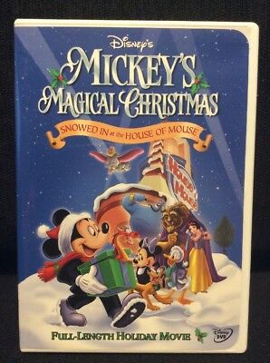 mickeys magical christmas snowed in at the house of mouse dvd genuine disney vg - Mickey Magical Christmas Snowed In At The House Of Mouse