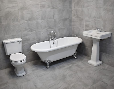 Wentworth Traditional Freestanding Roll Top Bath Suite With A Choice