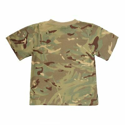 KAS KIDS BOYS CAMOUFLAGE T-SHIRT - ARMY Multi Terrain CAMO 3 - 13 YEARS QUALITY