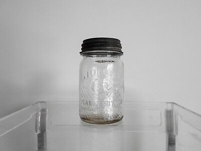 Vintage Jumbo Peanut Butter Glass Jar, Frank Tea & Coffee Co. Cincinnati, Ohio