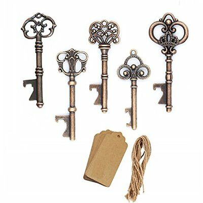 AmaJOY 50pcs Assorted Vintage Skeleton Key Openers Antique Copper Wedding Favors