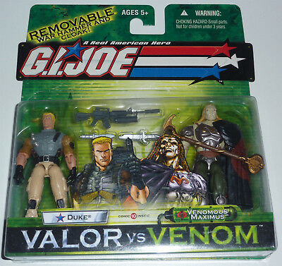 G.i.joe 2004 Duke Vs Venomous Maximus 2-Pack Moc Neu & Ovp Gi Joe Cobra