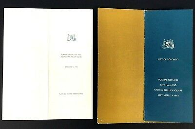1965 Toronto City Hall + Nathan Phillips Square Program From Grand Opening