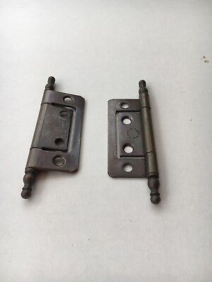 Pair of antique English cast iron hinges. See pictures for measurements.