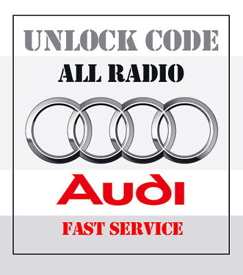 Audi Radio Security Code Unlock RNS-E Chorus Concert Symphony ** Really fast **