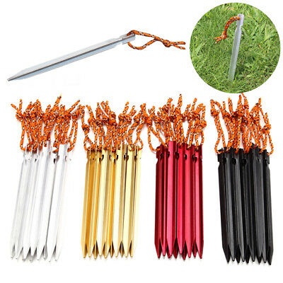 1-10Pcs 18cm Aluminum Alloy Set Outdoor Camping Trip Tent Peg Ground Nail Stakes