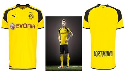 NEW Puma BVB 09 Borussia Dortmund UCL Evonik Yellow Home Shirt 2016/17 XS - XL