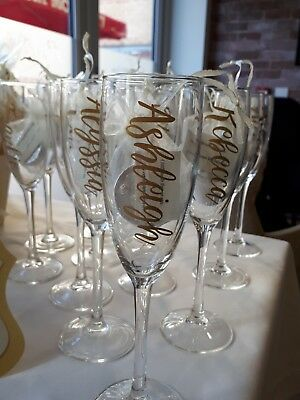 Baby Shower gifts..Personalised champagne flute glass