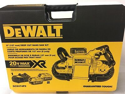 DEWALT DCS374P2 20V MAX XR Brushless Deep Cut Band Saw Kit