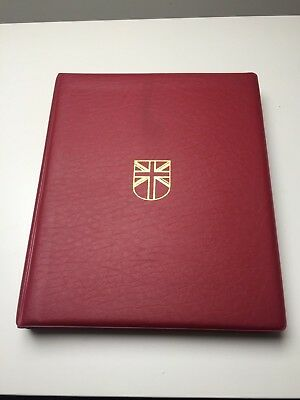 Great Britain Stamp Collection in Stanley Gibbons red album 1840-1980