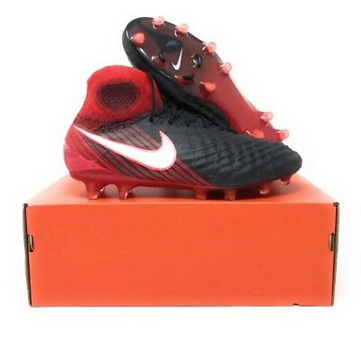 27b563c0b203 Nike Magista Obra II FG ACC Soccer Cleats Black Red Men s Size 8.5 844595  061